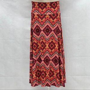 Lularoe print maxi skirt NWOT